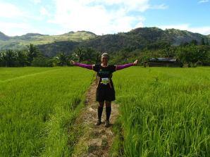 Trail rice fields