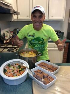 Challenge pre-race cooking exercise