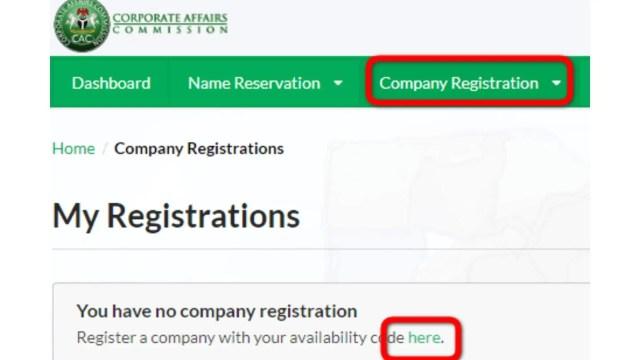 Enregistrement de la société auprès de la CAC au Nigéria