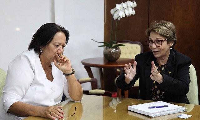 Ministra recebe governadora do Rio Grande do Norte e diz que vai atender às principais reivindicações