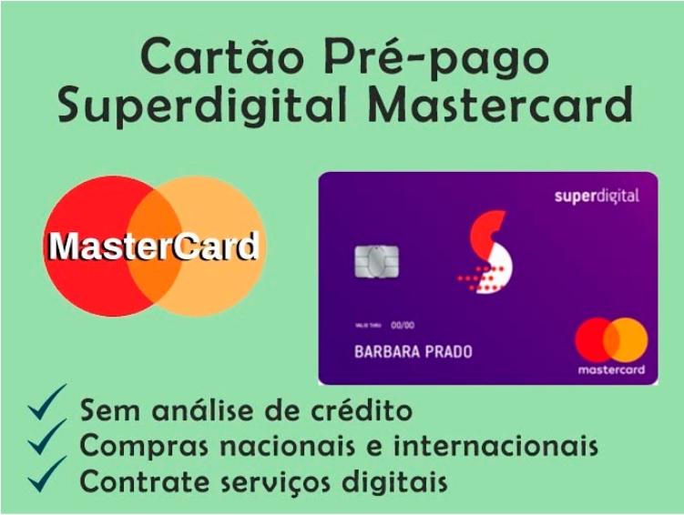 Cartão Pré-pago Mastercard Superdigital