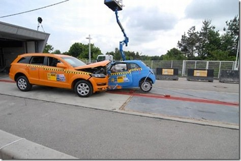 CRASH TEST-FIAT 500 X AUDI Q7