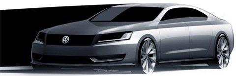 Primeiro esboço do novo sedan da VW para o EUA