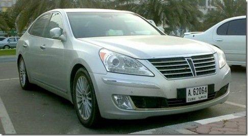 Novo Hyundai Equus flagrado em Dubai