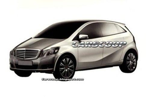 Imagens da nova geração do Mercedes Classe B vazam na Europa