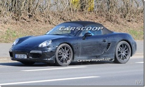 Porsche Boxter 2012 é flagrado  em Nurburgring, na Alemanha