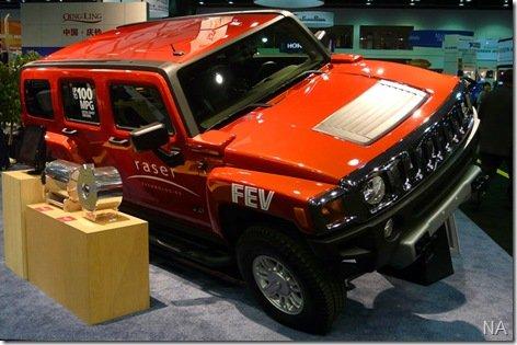 Hummer mostra seu H3 híbrido em Detroit
