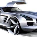"Mercedes mostra interior do novo ""asas de gaivota"""