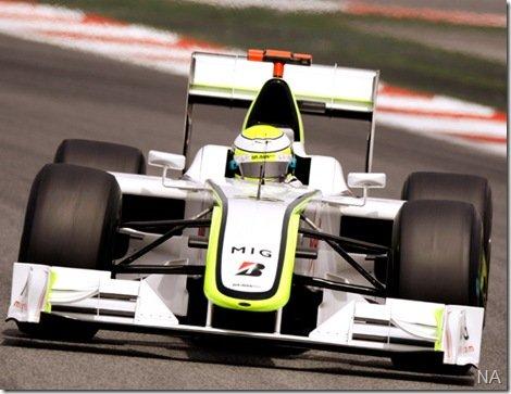 Jenson Button é pole, Barrichello e Massa dividem a segunda fila
