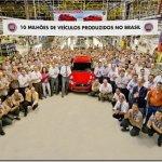 Fiat comemora 10 milhões de unidades produzidas no Brasil