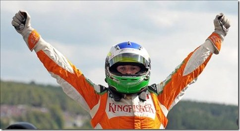 Fisichella faz a pole position na Bélgica