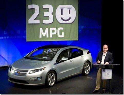 Chevrolet Volt faz 97,7km com um litro de gasolina