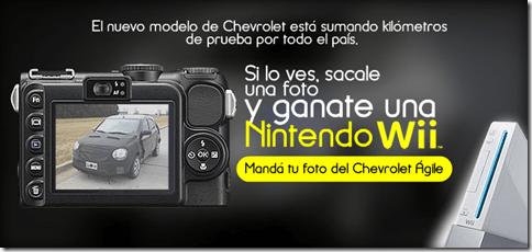 Chevrolet dará Nintendo Wii a quem conseguir tirar uma foto do Agile