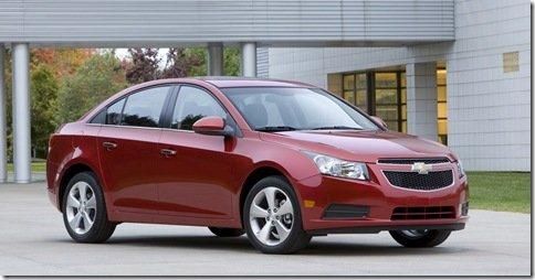 Chevrolet divulga detalhes do Cruze que será vendido nos EUA