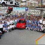 Volkswagen atinge a marca de 5 milhões de veículos produzidos em Taubaté