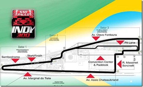 Traçado da corrida da Fórmula Indi em São Paulo é definido