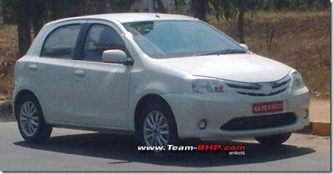 Toyota Etios já roda em testes na India