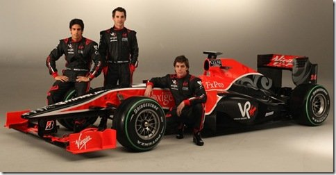 Virgin Racing apresenta o VR-01