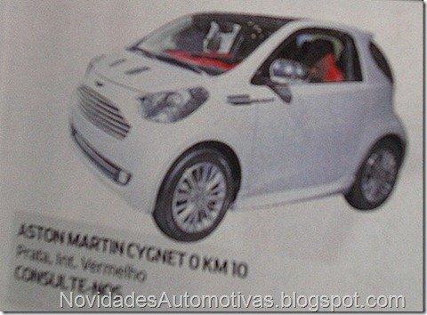 Importadora anuncia venda do Aston Martin Cygnet