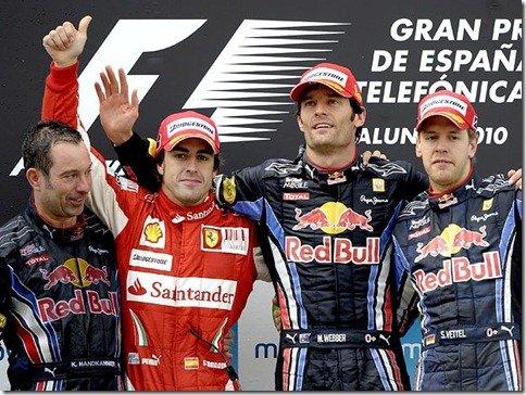 GP da Espanha – Mark Webber vence e Alonso chega em segundo