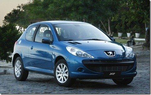 Peugeot convoca 13 unidades do 207 para recall