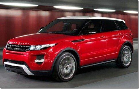 Land Rover divulga primeira foto do Evoque de 5 portas