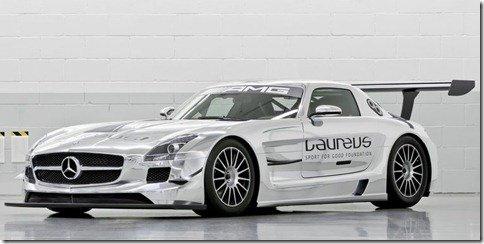 Mercedes SLS AMG GT3 cromada estará no Salão do Automóvel