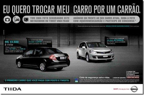 Nissan Tiida por 45.500 Retweets!
