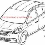 Vazam desenhos da nova geração do Nissan March Sedan
