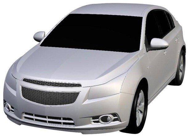 Vazam desenhos de patento do Chevrolet Cruze hatch