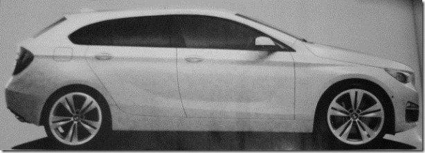 Vaza imagem de um possível BMW Serie 1 GT