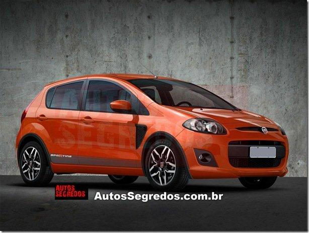 Projeção do novo Fiat Palio Sporting