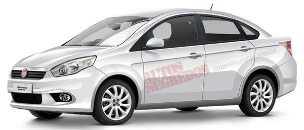 Novidades sobre o novo Fiat Siena