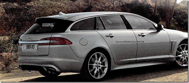 Imagem revela a traseira do Jaguar XF Sportbrake