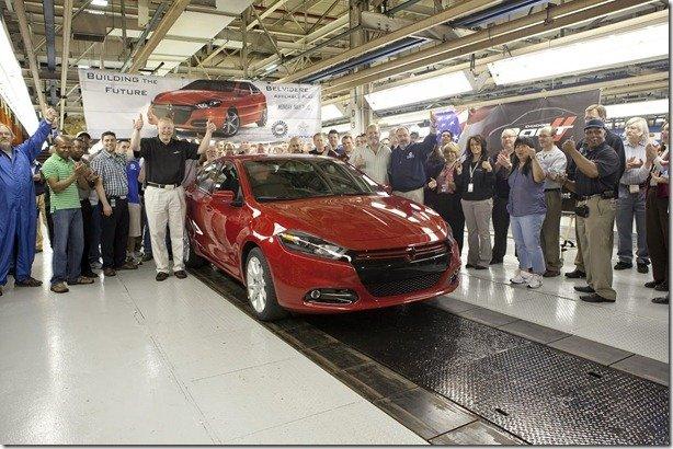 Novo Dodge Dart começa a ser produzido–Modelo estará no Salão do Automóvel