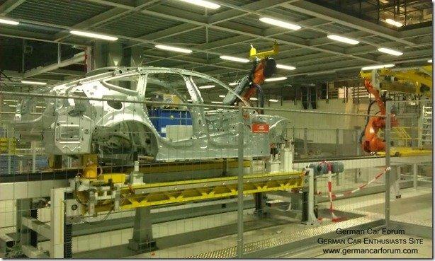 BMW Série 3 GT flagrado na linha de montagem