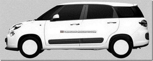 Fiat 500XL e 500L Trekking aparecem em imagens de patentes