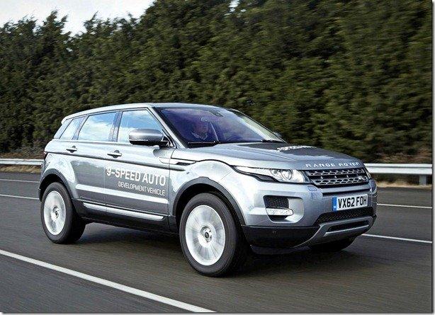 Range Rover Evoque estreia câmbio de nove marchas