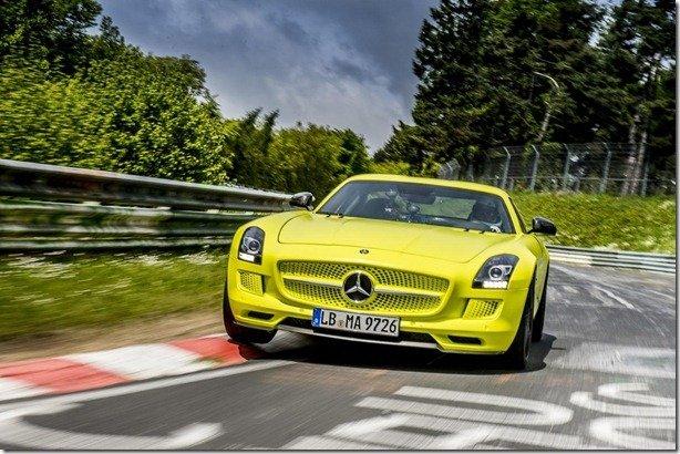 SLS é o carro elétrico de produção mais rápido em Nürburgring