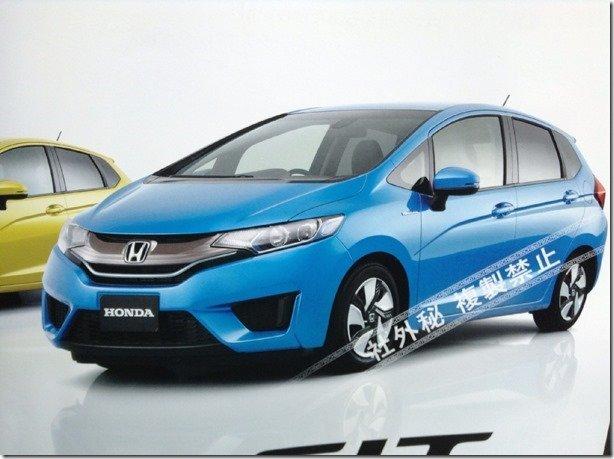 Vazam imagens da nova geração do Honda Fit