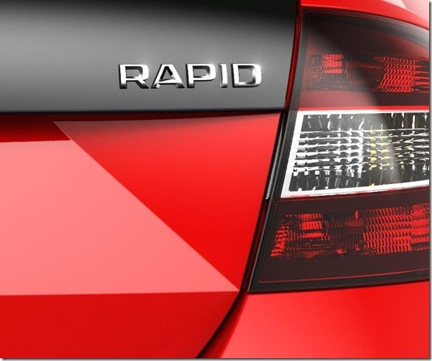 Skoda divulga teaser do Rapid RS