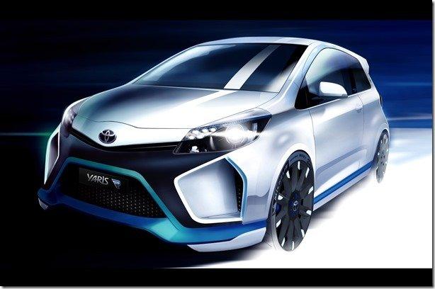Toyota divulga teaser do Yaris Hybrid-R