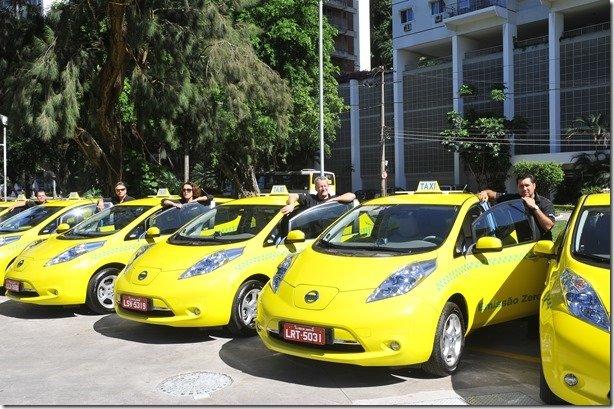Mais 13 Nissan Leaf entram para a frota de táxis do Rio de Janeiro