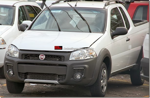 Fiat Strada Working 2014 tem dianteira inédita e exclusiva