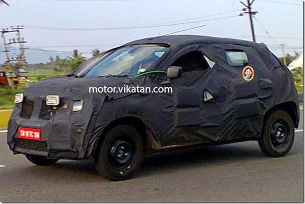 Novo carro de entrada da Renault é flagrado na Índia