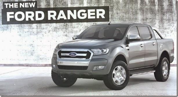 Ford divulga primeira imagem da Ranger 2015