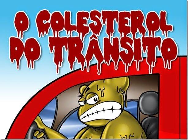 """Livro """"O Colesterol do Trânsito"""" usa o humor para mostrar o que não fazer ao volante"""