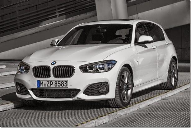 BMW Série 1 passa por facelift e deixa de parecer um Angry Bird