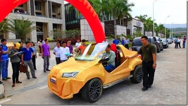 China já tem seu primeiro carro construído em uma impressora 3D