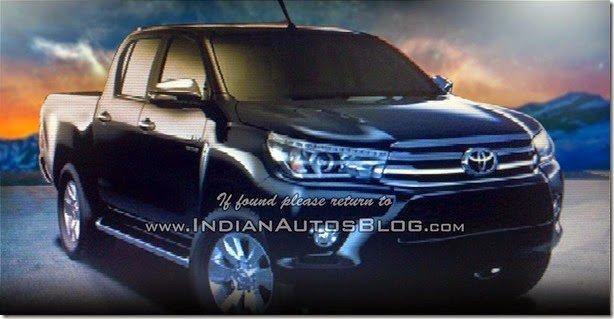 Primeiras imagens oficiais da nova Toyota Hilux 2016